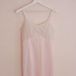 Light Pink Vintage Lace Slip